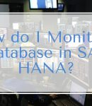 How do I monitor a database in SAP HANA?